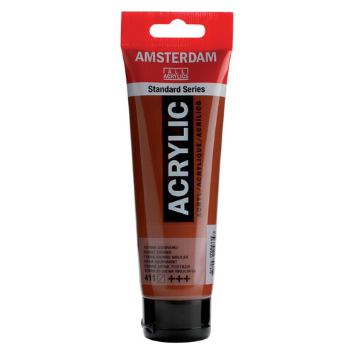 Acrylic Burnt Sienna Paint 120ml - 411