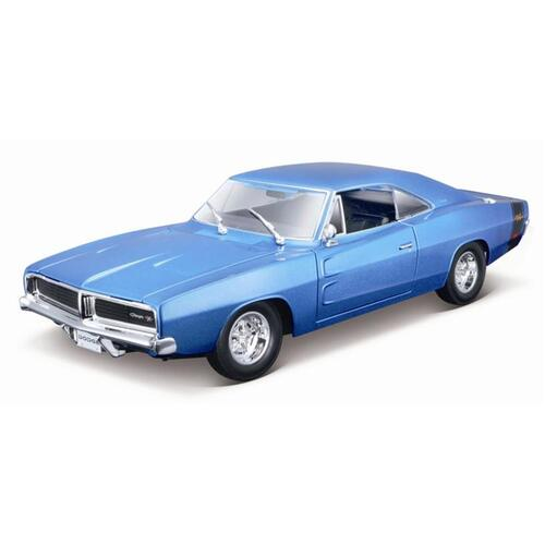 1:18 1969 Dodge Charger R/T, Metallic Blue - 31387