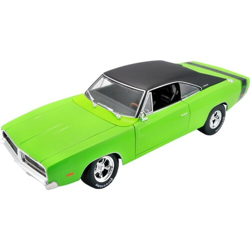 1:18 Scale 1969 Dodge Charger R/T Green w/Black Top - 32612