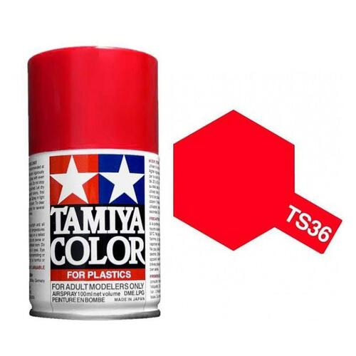 Lacquer Fluorescent Red Spray 100ml - TS36