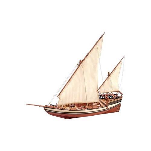 1:85 Sultan Arab Dhow Sailing Ship Wooden Kit - 22165
