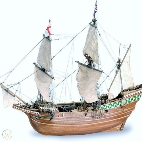 1:64 Mayflower English Ship Wooden Kit - 22451