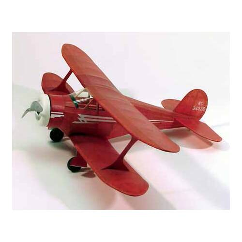 "Staggerwing 17.5"" Wingspan Walnut  Rubber Powered Flying Model Kit - 214"