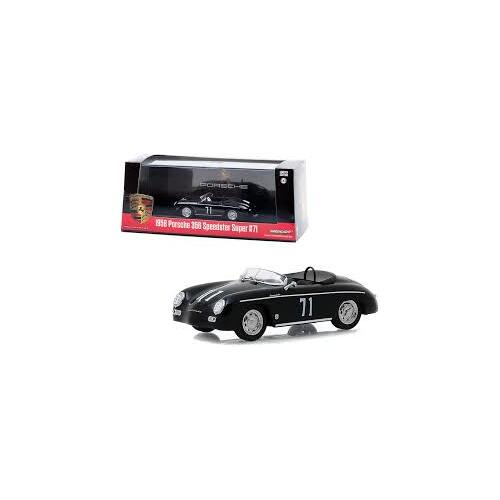 1:43 Scale 1958 Porsche 356 Speedster Super #71 Race Car Black - 86538