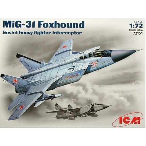 1:72  MiG-31 Foxhound Soviet Heavy Fighter Interceptor - ICM72151