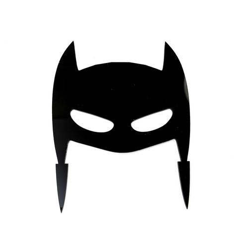 Black Cake Topper Mask Hero