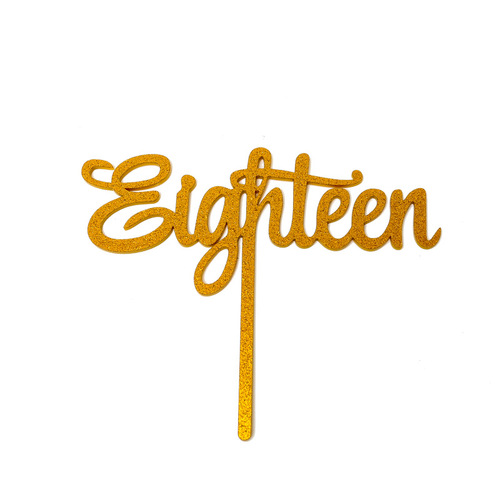 Gold Cake Topper Eighteen