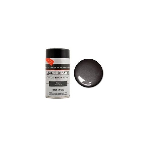 Enamel Black Metallic (G) Spray 85g - TTMM2913